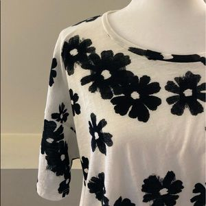 Madewell black & white floral  T-shirt